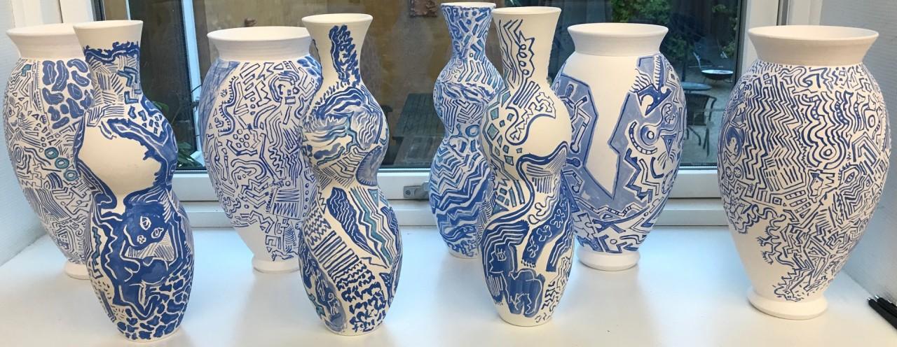 Lars Ly Keramiske skulpturer